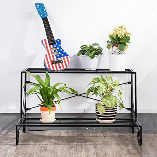 YDS Shop ijzeren tweedelige hal, woonkamer, binnen, balkon, ladder, bloempot, stabiel en krachtig, ruimtebesparend, super redding