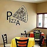 wZUN Pizza Pared calcomanía Vinilo Pegatina Comida Italiana Restaurante Occidental Cocina decoración Mural 85X90cm