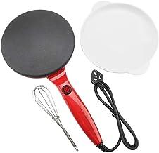Pannkakebryggare, Haofy elektrisk rund non-stick pannkakstillverkare crepe-maskin stekpanna pizza bakverktyg 220 V (röd)