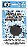 Unique Party- Paquete de 100 globos de agua de látex con forma de bomba, Multicolor, pack of 100 (5227)
