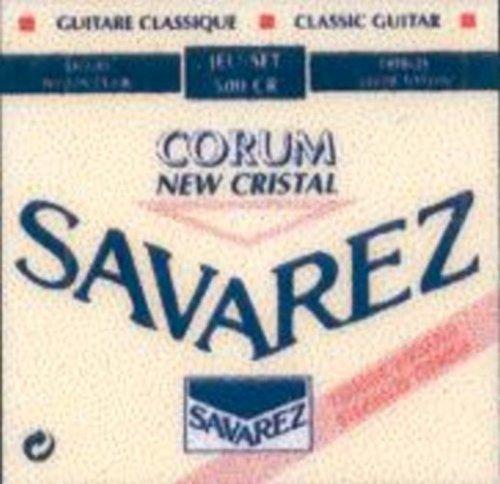 CUERDAS GUITARRA CLASICA - Savarez (500/CR) Corum New Crystal Roja (Juego Completo)