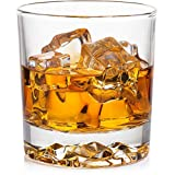 Whiskey Glasses Set of 4 with Brilliant Mountain Imprint. Large 11.5 oz Lead-Free Crystal. Weighted Bottom. Perfect for Whiskey, Bourbon, Scotch and Cocktails.