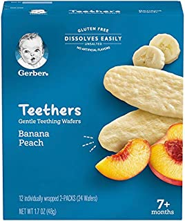 Gerber Teethers, Banana Peach, 1.7 oz, 12 count Box (Pack of 6)