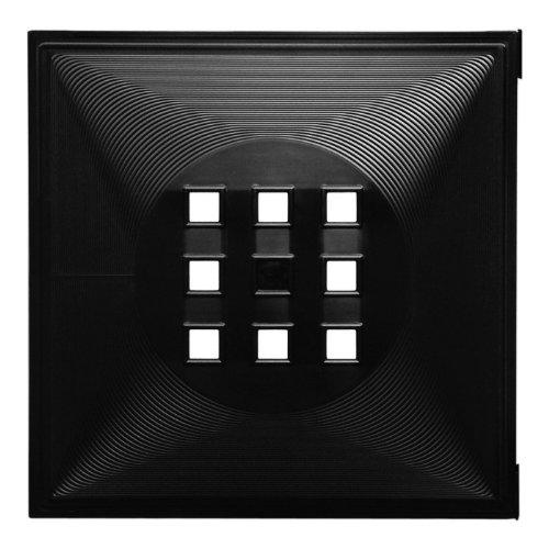 Designer Regaltür als Fach-Einsatz, Regalsysteme mit Mass ca. 33,6cm x 33,6cm, Tür für Ikea Regal Expedit Kallax Nornäs - Würfel Flexi - XXXL Lutz - Quelle Raumteiler -Variation in (Schwarz)