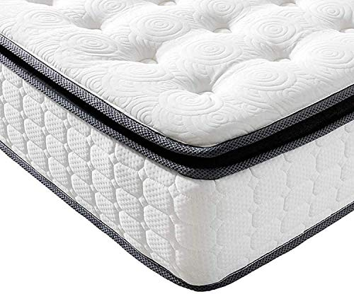 Vesgantti Matratze 140x200 Federkernmatratze 7-Zonen Taschenfederkernmatratze Modern Tonnentaschenfederkernmatratze Comfort Boxspring Mattress (H4, Fashion Pillow-top 26cm)