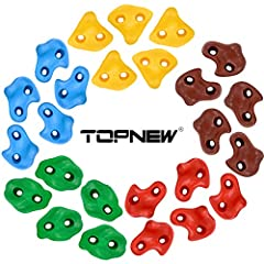 🏃Large and Durable Climbing Holds: Made of high quality plastic resin, weather resistant and durable, textured foot and hand grips make it easier for kids to grip and climb up 🌈Get Your Kids Active: Comes in 5 bright colors and feature 3 shapes for b...
