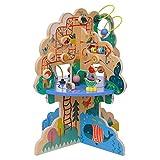 Manhattan Toy Playground Adventure Centro de Actividades de Madera para niños con Deslizadores, Pista de ábaco, Spinners, Juguetes de Primavera y Carreras de Cuentas, Multicolor (160810)
