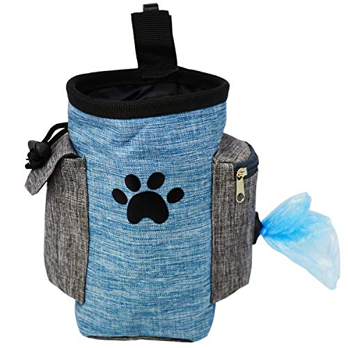 Dog Treat Pouch, Dog Treat Bag for Training Small to Large Dogs, Easily Carries Pet Toys, Kibble,...