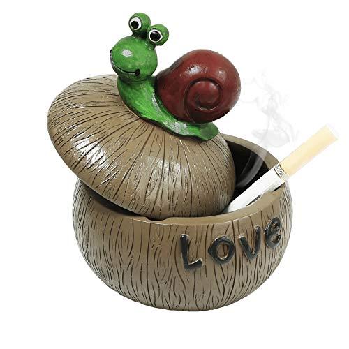 Monsiter Aschenbecher für Zigarette Creative Snail Aschenbecher mit Deckel Home Decoration