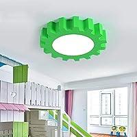 CAIMEI ギアペンダントランプ男の子寝室天井ランプ、ペンダントランプデュアルユース教室漫画ランプ、黄色、60Cm,緑,50Cm