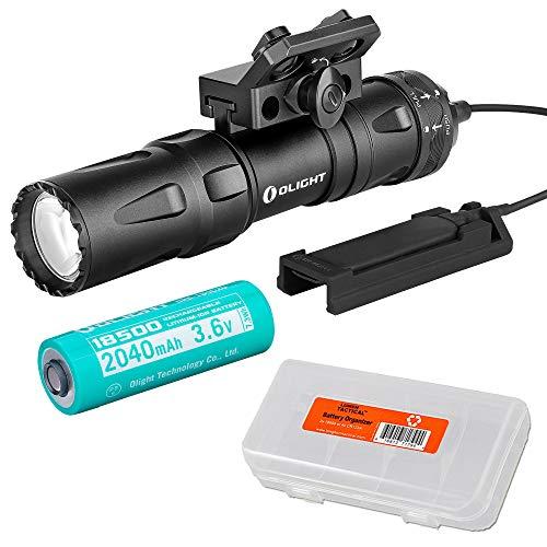 OLIGHT Odin Mini Black 1250 Lumen Rechargeable Quick Release Rail Mount Flashlight Kit with LumenTac Battery Case