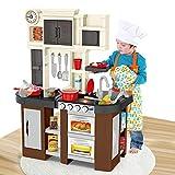 YQZ Kinderküche Geben Sie vor, Spielzeug zu Spielen, Kochset zu Spielen Kinderküchen-Spielsets mit...