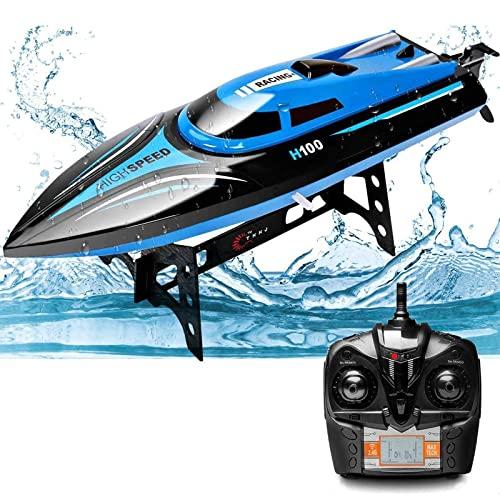 Rabing RC Bateau, 2,4 G RC High Speed Piscine Lacs Outdoor, 30 km/h, jouets radio pour adultes et enfants Bateau,...