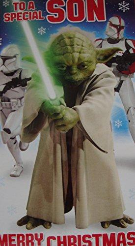 Weihnachtskarte für Sohn, Motiv Star Wars , englischsprachig