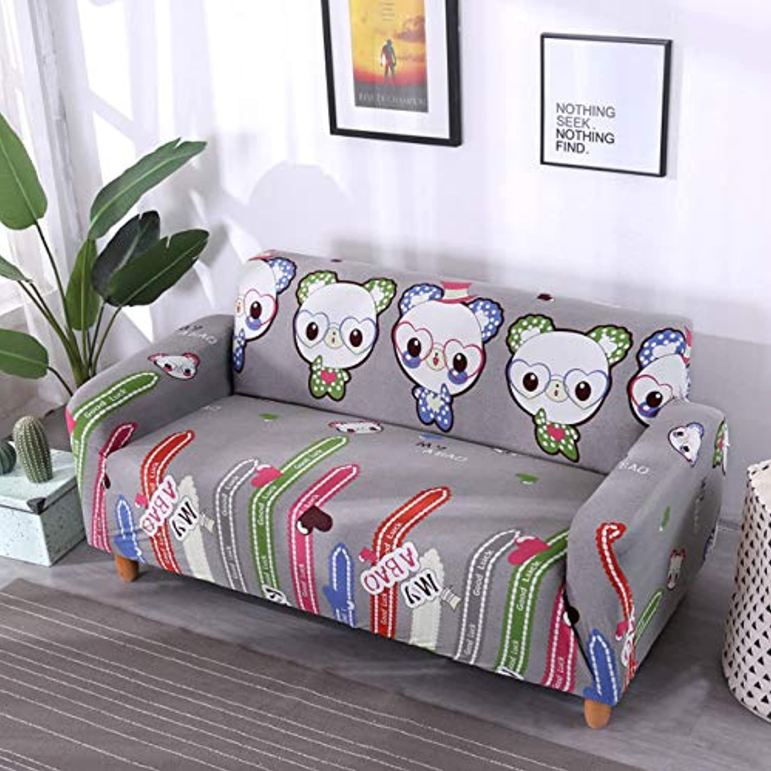 Universal Size 1 2 3 4 Seater Sofa Cover Tight wrap All-Inclusive sectional Elastic seat Covers Couch Covering Slipcovers   6421, 1 Seater 90-140cm