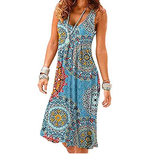 Summer Dress Women Sleeveless O-Neck New Casual Tank Dress Elegant Plus...