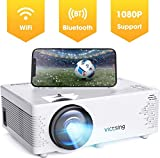 Projector VicTsing Portable Mini Projector Bluetooth Projector Support 1080P 60% Brighter 176'' Display