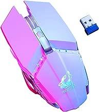 haixclvyE Free Wolf X11 Gaming Mouse Ergonomic 2.4G 2400DPI Wireless Optical Mouse for Laptop Computer White