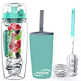 Instalite Fruit Infuser Water Bottle 1 Litre, BPA Free Tritan Material with Hydra