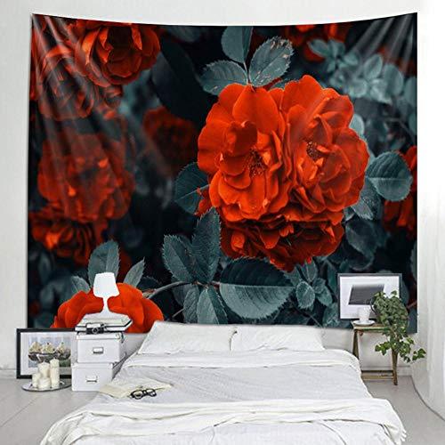 Tapiz para colgar en la pared, colcha de cama, toalla de playa, mantel, tapete de yoga, diseño floral rosa, rectángulo 150x100cm