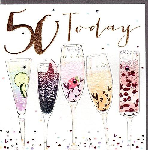Belly Button Designs hochwertige Glückwunschkarte zum runden 50. Geburtstag