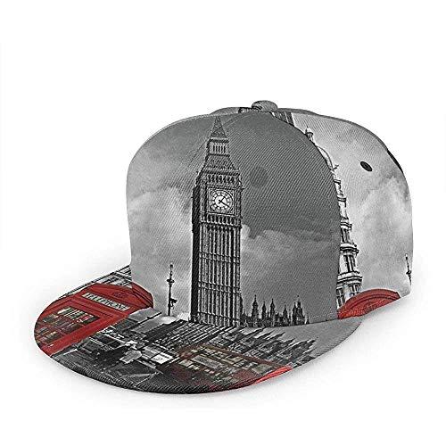 Sombrero Strapback Cabina De Teléfono Roja Británica De...