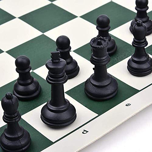GYPPG Juego de ajedrez portátil, Juego de ajedrez para Exteriores, Juego de Tablero de Piezas de ajedrez, ajedrez magnético de Viaje, ajedrez dgt con Bolsa de ajedrez, Juego de ajedrez,