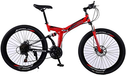 26 Bicicleta Plegable con Anti-patín y neumático Resistente al Desgaste Dual Disc Disc Freno Gran para Montar a Caballo y Viajar en Bicicleta de Estilo Libre para niños y niñas-26Inch21speed
