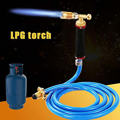Anonyme Liquefied Propane Gas Electronic Ignition Welding Torch Machine Equipment with 2.5M Hose for Soldering Weld Cooking Heating All Copper Welding Torch