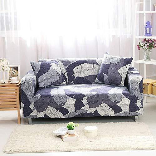 Cubierta Antideslizante en Tejido elástico Extensible 4 plazas y 4 plazas 2 Piezas, Fundas de sofá elásticas geométricas Sofás elásticos Fundas de sofá de Esquina seccionales en Forma de L
