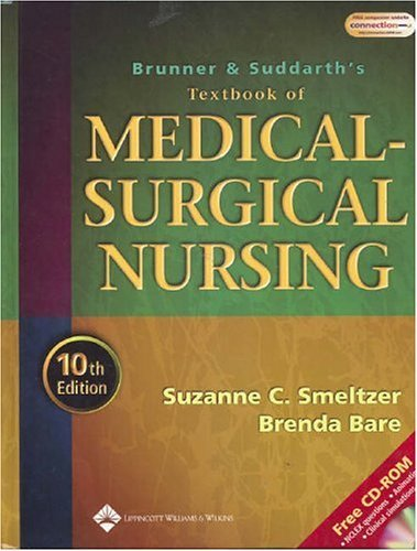 Brunner and Suddarth's Textbook of Medical-Surgical Nursing 10th (tenth) edition Text Only