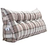 AILZNN Reading Backrest Cushion, <span class='highlight'>Stripe</span> <span class='highlight'>Bolster</span> <span class='highlight'>Triangular</span> <span class='highlight'>Large</span> <span class='highlight'>Wedge</span> pillow Headboard Reading cushion Double pillow for sofa bed day bed,2-20x50x90cm(8x20x35inch)