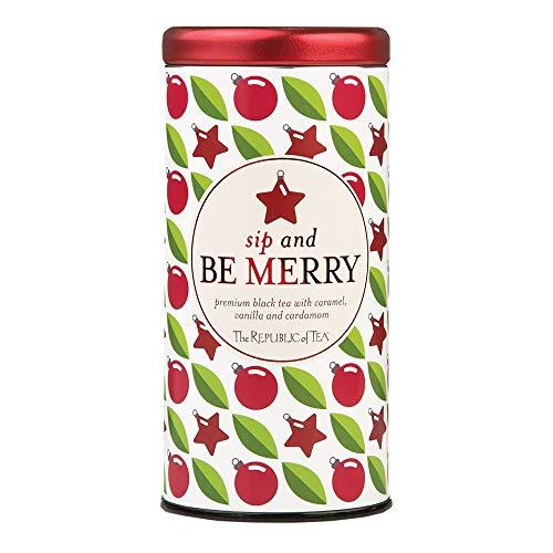 The Republic of Tea Sip And Be Merry Holiday Tea Bags, 50 Tea Bag Tin