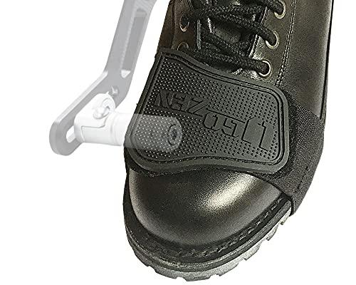 Protege Chaussure Moto, Accessoire Protection Selecteur de Vitesse pour Botte ou Chaussure Moto Homme/Femme Ugozen, Equipement pour Motard.Taille Unique Ajustable Noir.