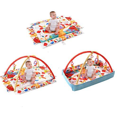 BABY JOY Baby Play Gym Mat, 3 in 1 Activity Mat...