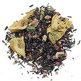 Aromas de Té - Té Rojo Pu Erh Arcoiris con Cardamomo, Canela, Trozos de Manzana, Trozos de Naranja, Clavo y Pimienta Rosa, 100 gr