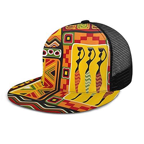 Gorra de béisbol Sombreros de Snapback a rayas originales africanos históricos Sombrero Gorras de béisbol ajustables planas a cuadros de Hip Hop