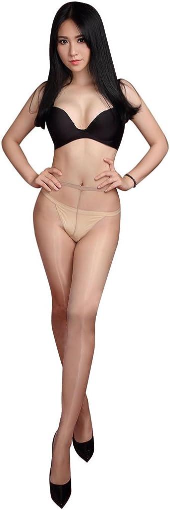 LinvMe Men's Plus Size Low Waist Oil Shiny Pantyhose Tasnaparent Stockings