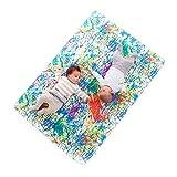 Manta de juegos para bebés acolchada plegable enrollable gimnasio suelo actividades alfombra Tamaño único 130x90 cm Fabricada en España Decoracion Regalo bebe (Pollock)