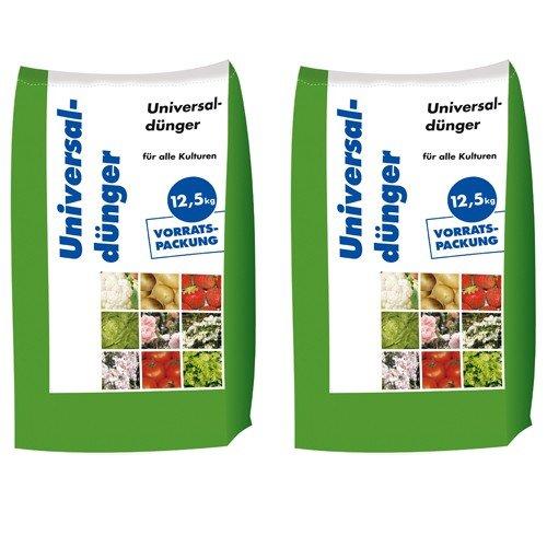 25 kg Universaldünger NPK 8-4-5 Gartendünger organisch-mineralischer Dünger für Blumen & Obst 2x12,5 kg
