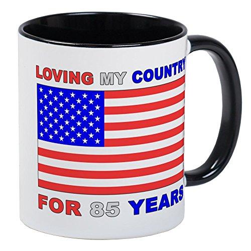 CafePress - Patriotische Tasse zum 85. Geburtstag - Einzigartige Kaffeetasse, Kaffeetasse, Teetasse
