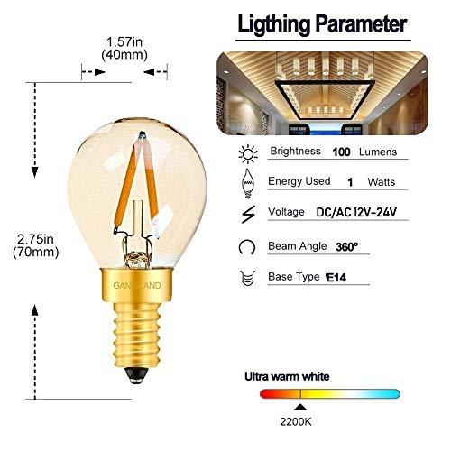 Gloeilamp Edison gloeilamp LED G40 6W E27 LED-lamp daglicht wit T22 1W E14 LED-lamp 12V warm wit 2200K
