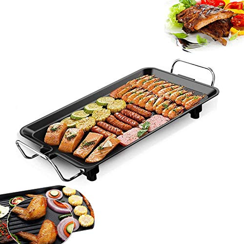 Best Price Electric Griddle, Pancake Griddle Non-Stick Coating Surface, 5-Level Control, Smoke-Free ...