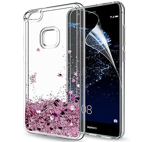 LeYi Funda Huawei P10 Lite Silicona Purpurina Carcasa con HD Protectores de...