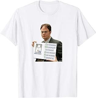 Dwight Schrute The Office TV Show Michael Scott Pam Beesley Jenna Fischer Vintage Gift Men Women Girls Unisex T-Shirt