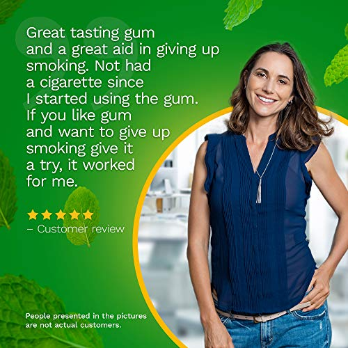 Nicorette Coated 2mg Nicotine Gum to Quit Smoking - Spearmint Burst Flavored Stop Smoking Aid - 160 Count