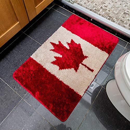 SED Teppich-Wasser Absorption Tisch Computer Sofa Zimmer Teppich Ahorn personalisierte Badematte Badezimmer Teppich Maschine waschbar Badematte Mats Fußmatte warm,60 * 90 cm,60 * 90 cm