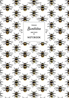 Bumblebee Notebook - Lined Pages - A4 - Premium: (White Edition) Fun notebook 192 lined pages (A4 / 8.27x11.69 inches / 21...