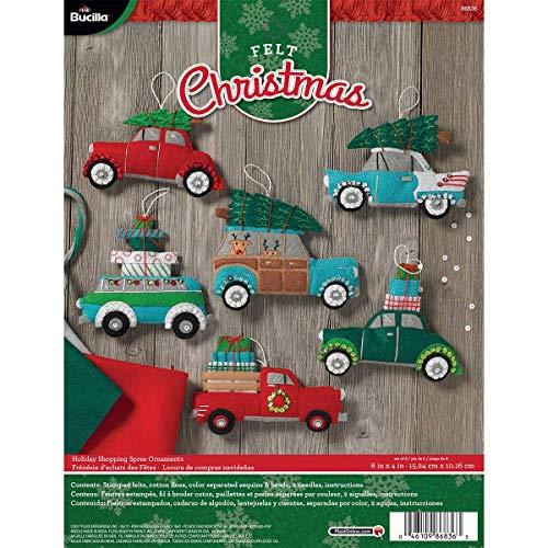 Bucilla Holiday Shopping Spree Felt Applique Kit, 6 Piece