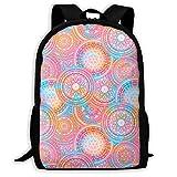orangefruit Mochila Escolar, Mochilas para Adultos Hippie Mandala Pattern School Bag Travel Daypack Bolso de Hombro